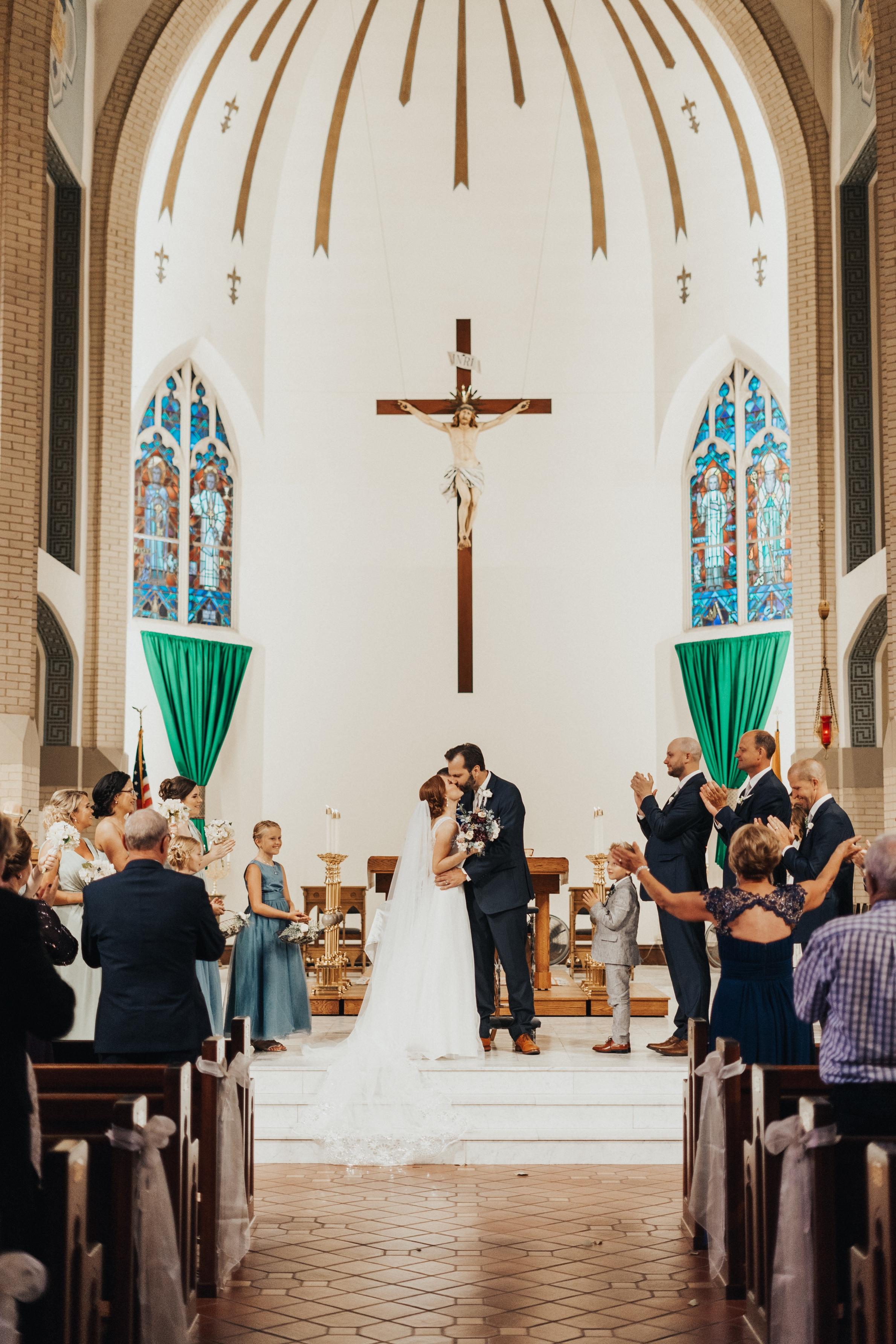 wedding at our lady of lourdes catholic church omaha