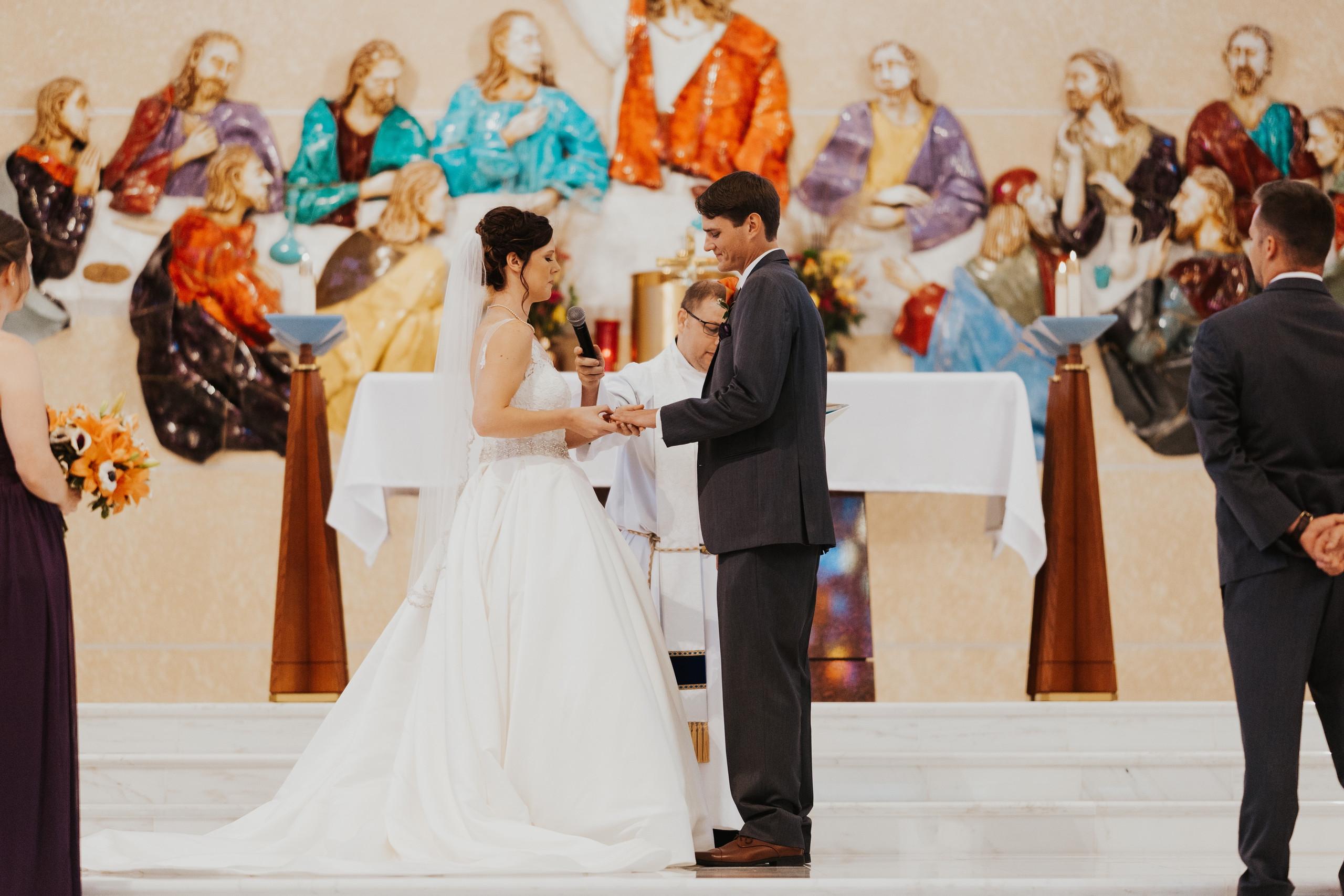 wedding at christ the king catholic church