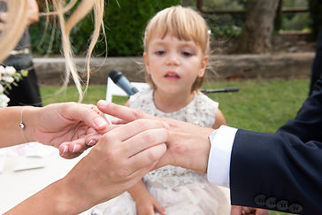 fotografia de intercambio de anillos en