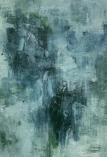 Mini Abstract - Blue Green I