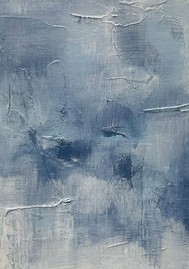 Mini Abstract - Blue II