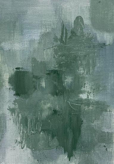 Mini Abstract - Blue Green II