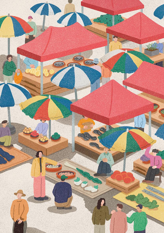 잠시섬 프로젝트⑤ 풍물시장 5일장