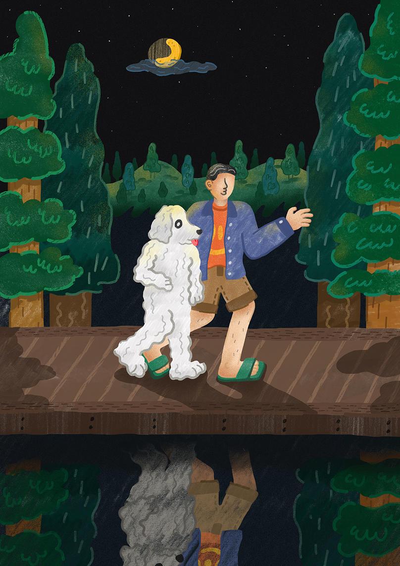 말할 줄 아는 개와 하는 여름밤 산책