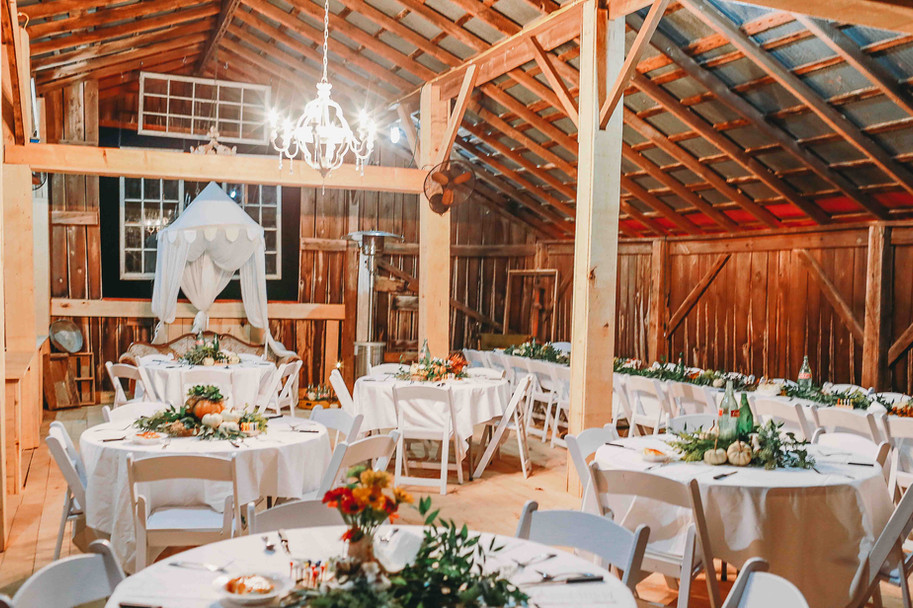 Dining Area in Rustic Barn Loft for Farm to Table Dinners