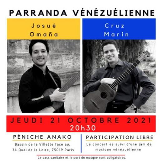 Parranda vénézuélienne avec Josué Omaña et Cruz Marín
