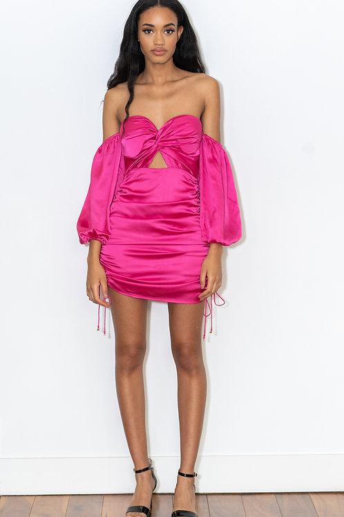 Pouffe Sleeve Mini Dress