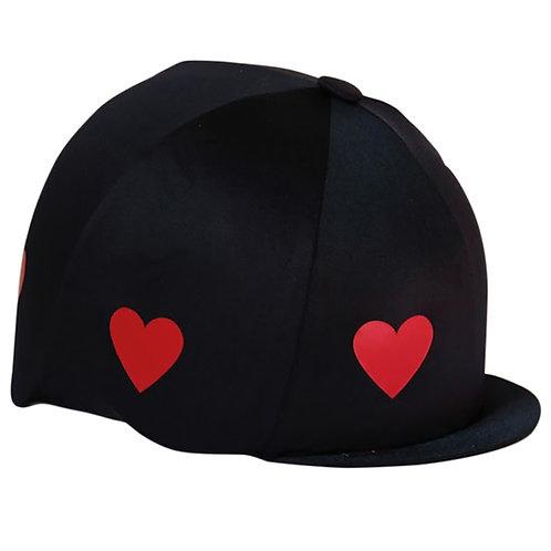 Capz hjälmöverdrag, enfärgade med hjärtan