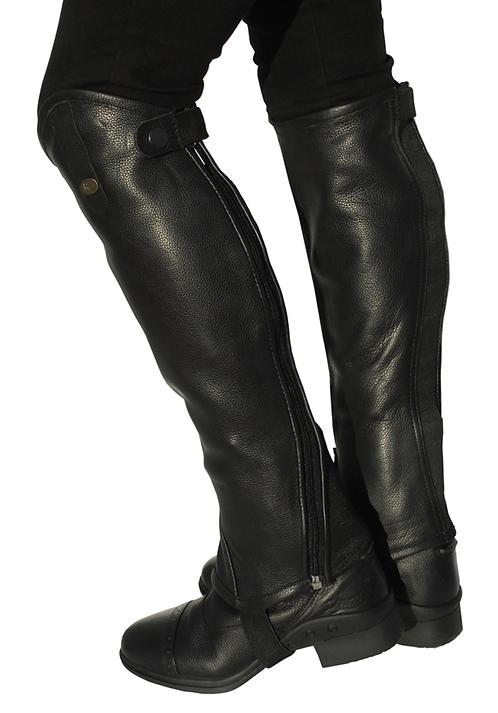 Läderchaps, svart