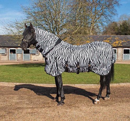 Flugtäcke, med fast hals, zebra
