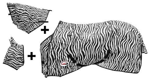 Umbria Zebra, flugtäcke med avtagbar hals & flughuva