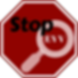 Stop EVV logo, a red stop sign with a whie magnifying glass inside that reads Stop EVV