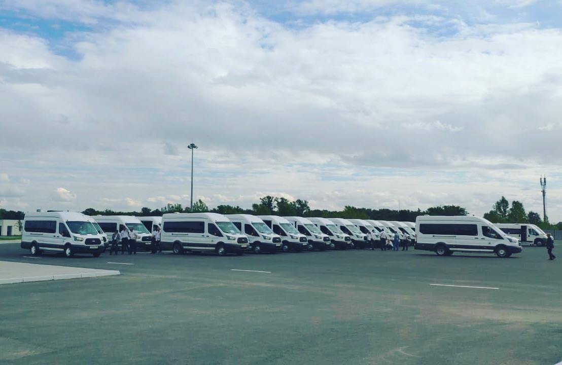 Автобусы ФТК Автоимперия на 6й Спартакиаде пенсионеров России в Уфе