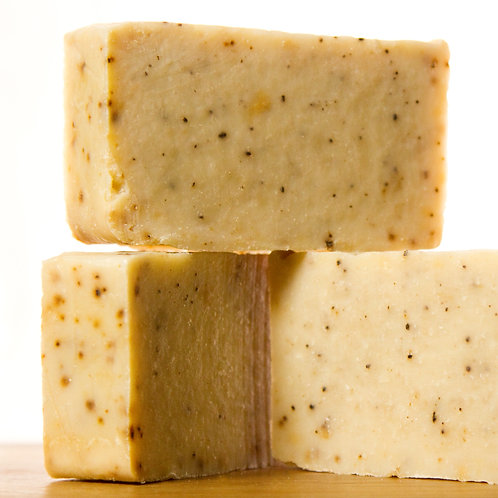 rosemary mint coffee soap