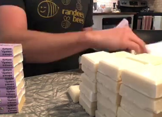 randee's bees lavender & honey hotel sized soap
