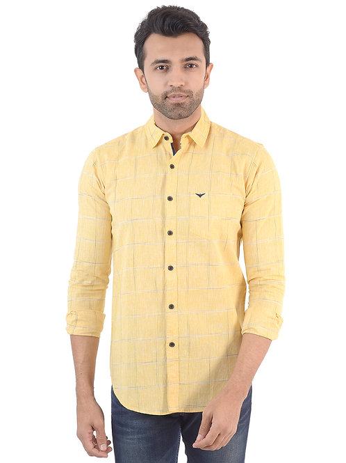 Yellow Checked Shirt