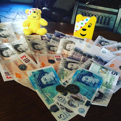 All this lovely money is going straight to Children In Need! £836! Thankyou Lyndhurst! #100SongChall