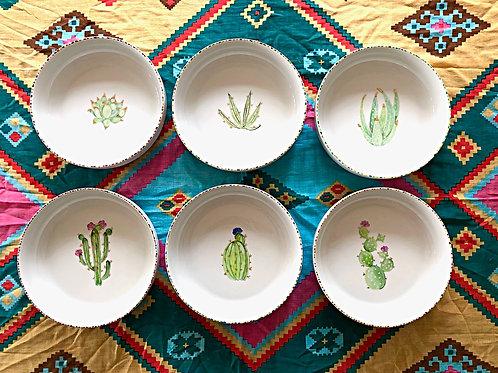 Set de 6 bols Cactus