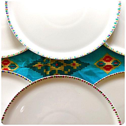 Set de 6 assiettes Epines design