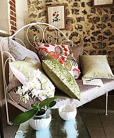 banquette inspiration végétale exclusivité La villa hortus