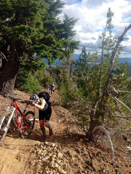 Grueling hike-a-bike to Maiden Peak