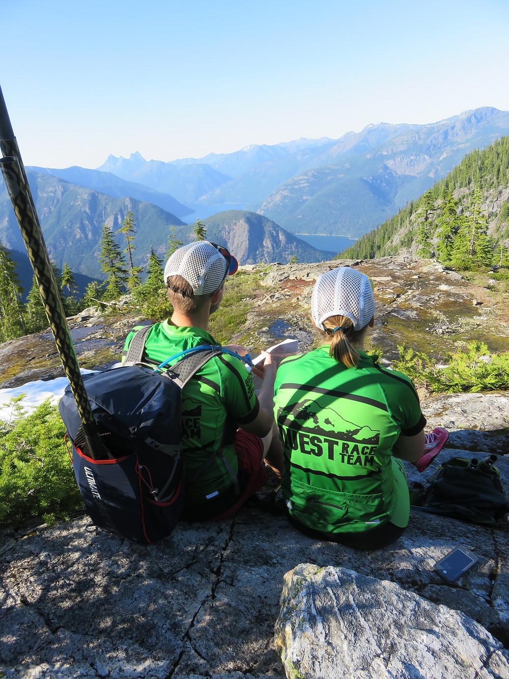Mitch & Scarlett taking in the views
