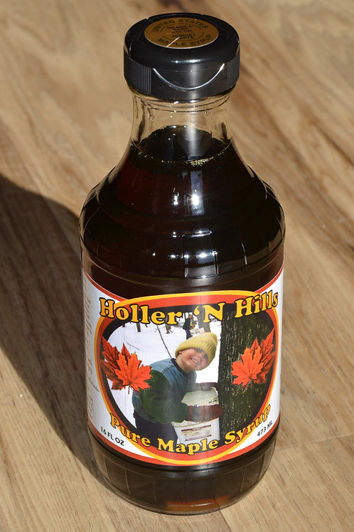 16oz Round Glass Bottle