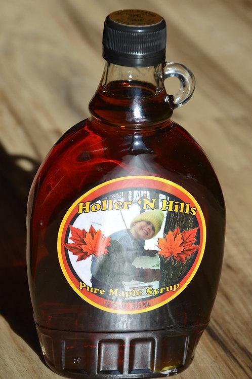 12 oz Flat Glass Bottle