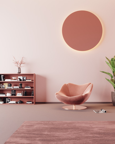 rose gold armchair
