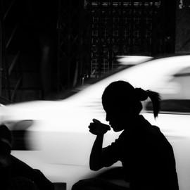 Yangon Tea Shop Silhouette