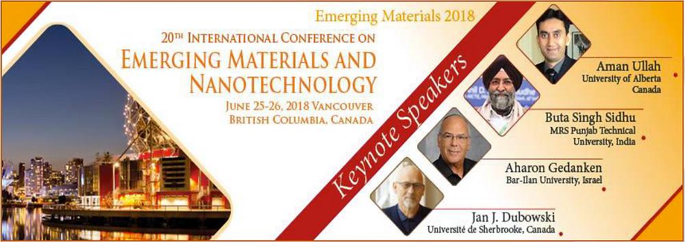 Emerging Materials & Nanotechnology 2018