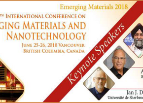 Emerging Materials and Nanotechnology, 20th International Conference on June 25-26 2018, Vancouver