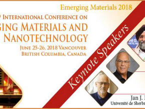 Emerging Materials and Nanotechnology, 20ème conférence internationale le 25-26 juin 2018, Vancouver