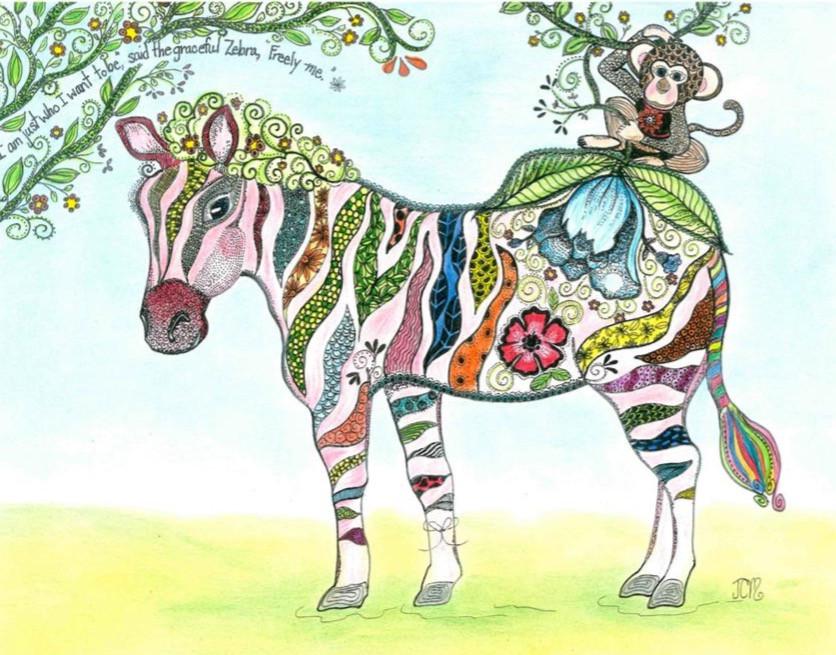 Zen Zebra colored - DHS