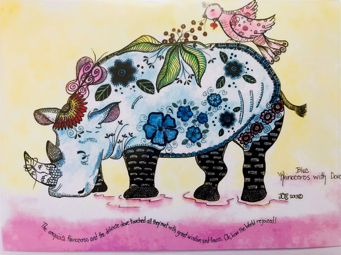 Colored Rhinoceros - DHS