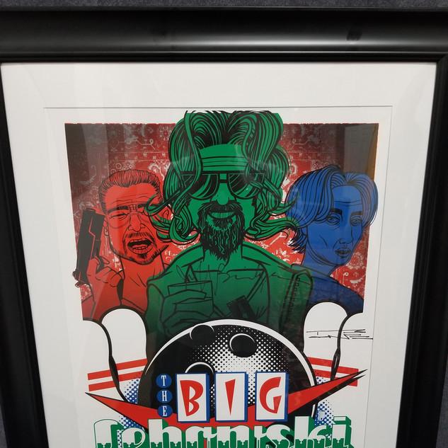 The Big Lebowski Lithograph - Autographed by Jeff Bridges & T Bone Burnett