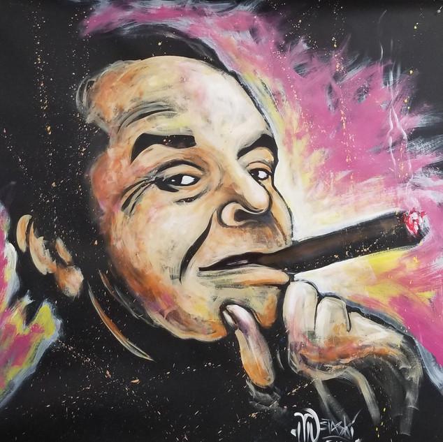 Jack Nicholson Painting - starting bid $750