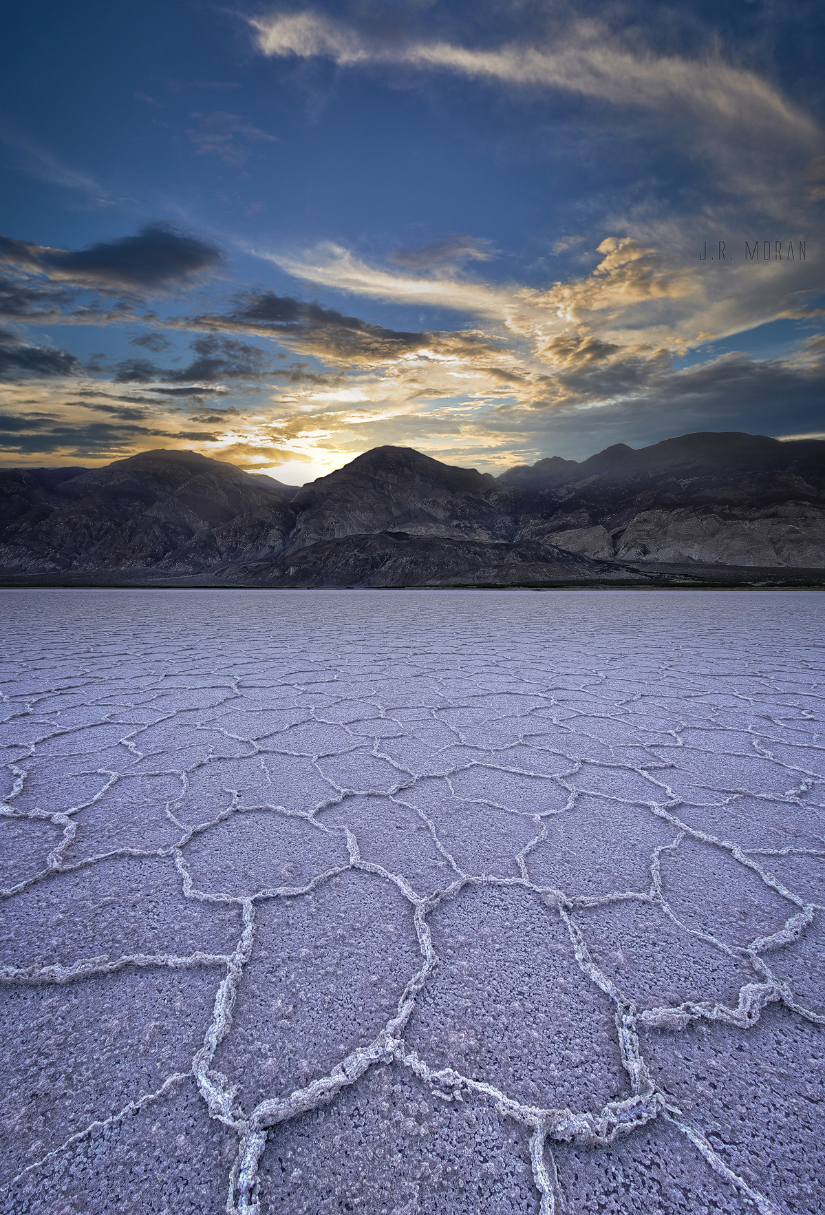 Salt Polygons of Death Valley