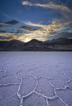 Salt Polygons of Death Valley