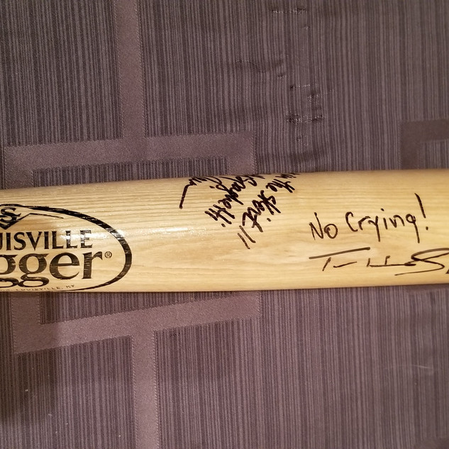 A League of Their Own Louisville Slugger Baseball Bat Signed. Starting bid $1000