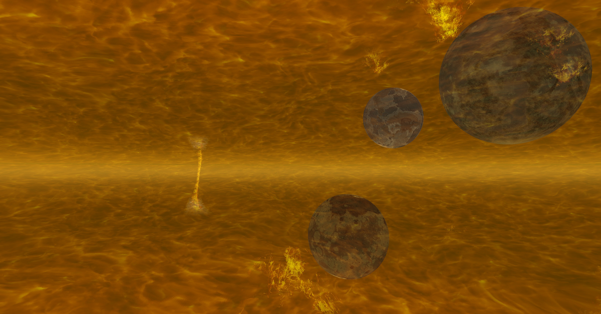 Terran battle zone