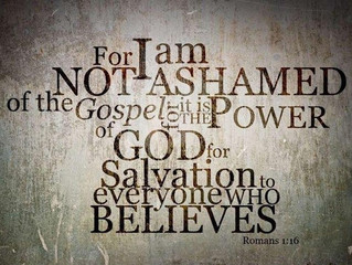 Ashamed? No! I am not ashamed of Christ, nor of the Church of Christ.