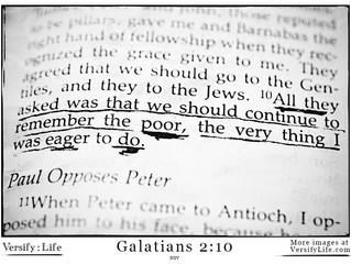 Remember the poor - Gal. 2:10