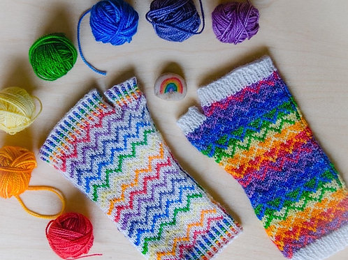 Because Rainbow Mitts Pattern
