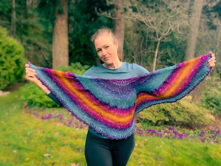 Pi Squared Shawl - The Knit Sister