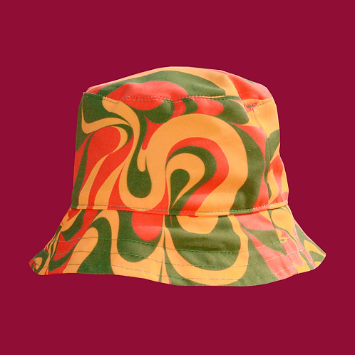 Swirl Print Bucket Hat