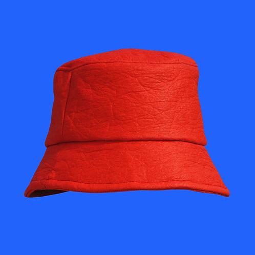 Pineapple Leather Bucket Hat