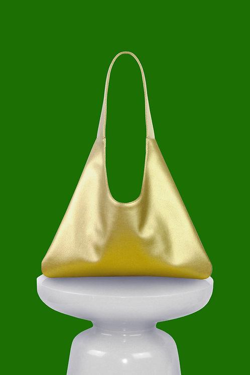 Agave Triangular Tote in Brass