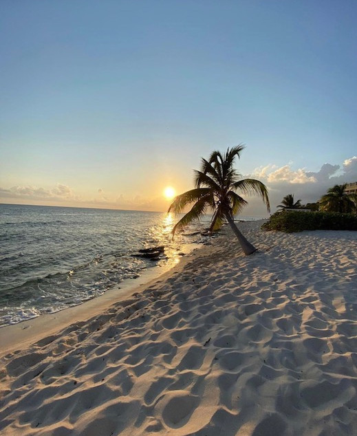 Sunset On 7 Mile Beach