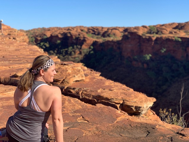 Hiking Kings Canyon, Northern Territory.